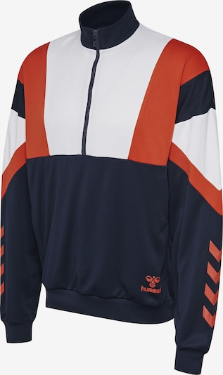 Hummel Half Zip Sweatshirt in blau / orange / weiß, Produktansicht