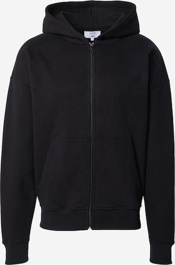DAN FOX APPAREL Sweatjacke 'Bent' in schwarz, Produktansicht