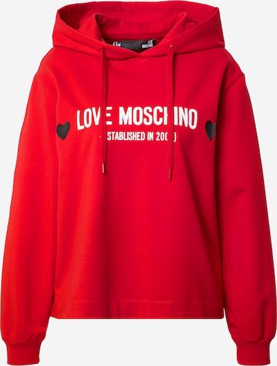 Love Moschino Sweatshirt in rot / schwarz / weiß, Produktansicht