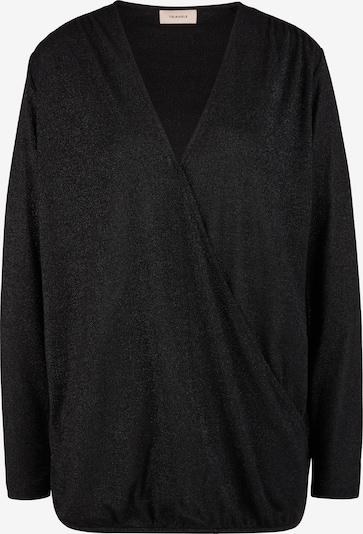 TRIANGLE Blusenshirt mit Glitzergarn in schwarz, Produktansicht