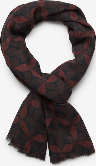 Fular Boggi Milano pe roșu burgundy / negru, Vizualizare produs
