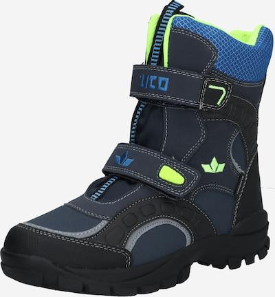 LICO Boots 'Samuel V' in de kleur Blauw / Marine / Neongroen / Zwart, Productweergave