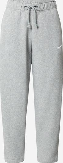 Nike Sportswear Byxa i gråmelerad / vit, Produktvy