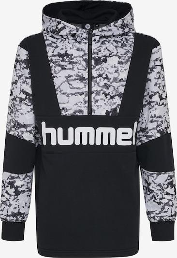 Hummel Hoodie in grau / schwarz / weiß, Produktansicht