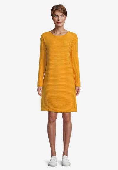 Betty Barclay Strickkleid mit Rippenstruktur in gelb, Modelansicht