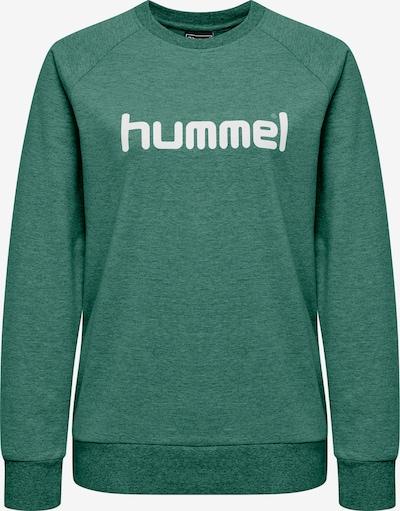 Hummel Sportief sweatshirt in de kleur Groen gemêleerd / Wit, Productweergave