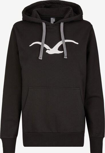 Cleptomanicx Kapuzensweater 'Möwe' in schwarz / weiß, Produktansicht
