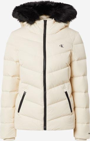 Geacă de iarnă de la Calvin Klein Jeans pe bej