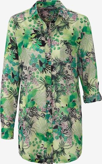Basler Bluse in hellgrün / dunkelgrün / hellpink / schwarz, Produktansicht