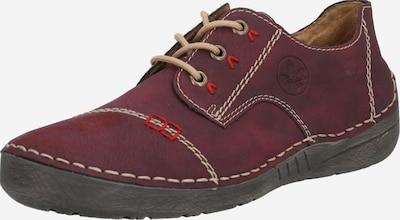 RIEKER Zapatos con cordón en beige / rojo sangre, Vista del producto