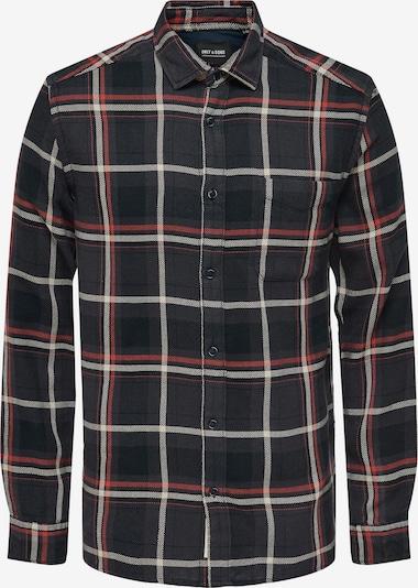 Only & Sons Skjorta 'Joshua' i nattblå / pastellröd / svart / vit: Sedd framifrån