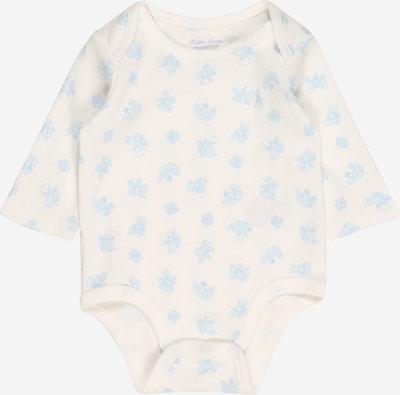 Polo Ralph Lauren Barboteuse / body en bleu fumé / blanc, Vue avec produit