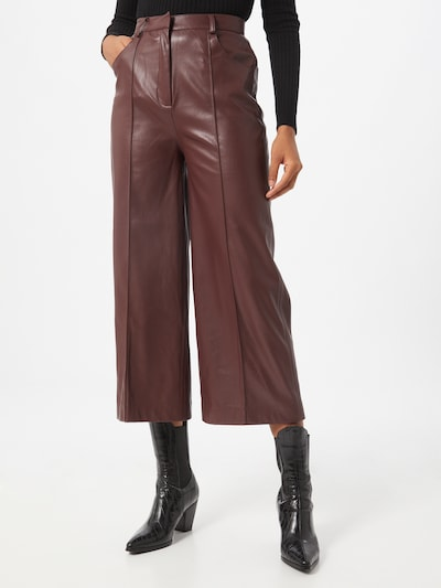 Pantaloni 'Patrice' SOAKED IN LUXURY pe maro închis, Vizualizare model