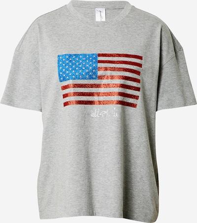 KENDALL + KYLIE Majica 'Flag' u plava / siva / crvena / bijela, Pregled proizvoda