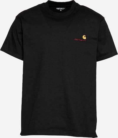 Carhartt WIP T-Shirt 'American Script' in gelb / rot / schwarz, Produktansicht