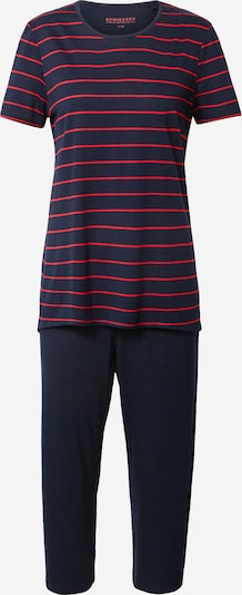 SCHIESSER Pyjamas i marinblå / grenadine, Produktvy