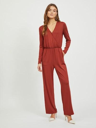 VILA Jumpsuit in rostbraun / rostrot, Modelansicht