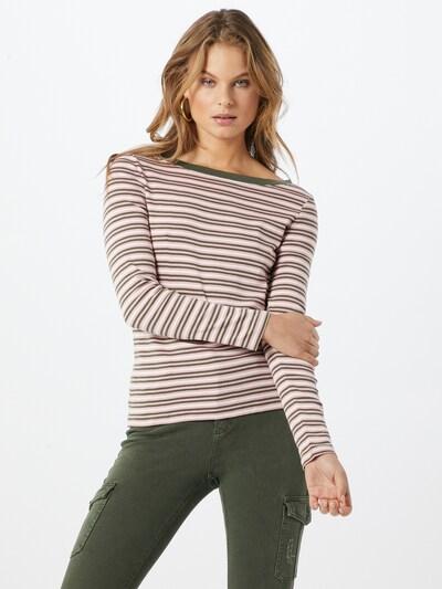 EDC BY ESPRIT Shirt in khaki / rosé / weiß, Modelansicht