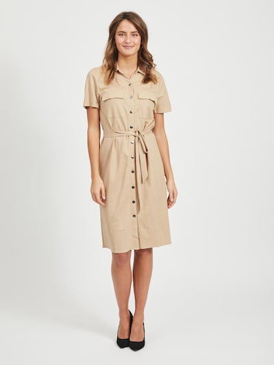 VILA Blusenkleid in beige, Modelansicht