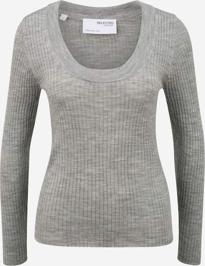 Selected Femme (Petite) Pullover 'Costa' in graumeliert, Produktansicht