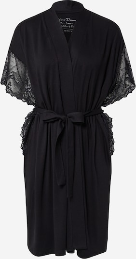 ESOTIQ Dressing gown 'ETANA' in black: Frontal view