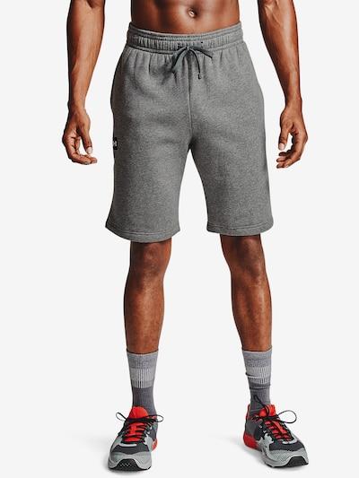 UNDER ARMOUR Sportovní kalhoty 'Rival' - šedý melír / černá / bílá, Model/ka