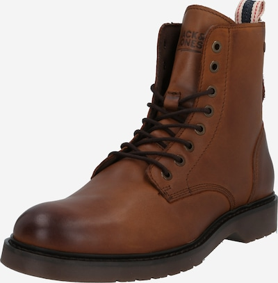 JACK & JONES Veterboots 'NORSE' in de kleur Cognac, Productweergave