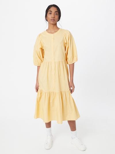 """Part Two Рокля тип риза 'Hasita' в цвят """"пясък"""": Изглед отпред"""