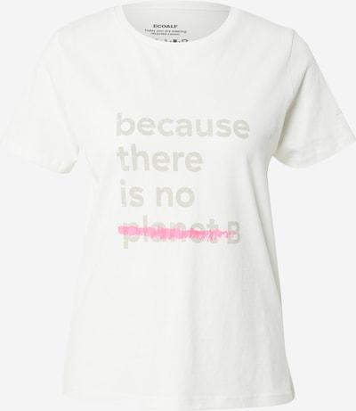 ECOALF T-shirt en beige / rouge / blanc, Vue avec produit