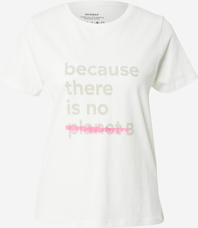 ECOALF T-Shirt in beige / rot / weiß, Produktansicht