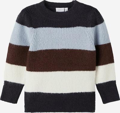 NAME IT Pullover in blau / braun / weiß, Produktansicht