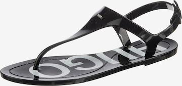 HUGO T-Bar Sandals 'Emma' in Black