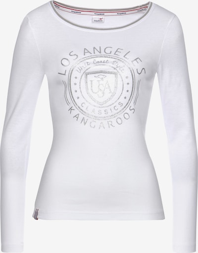 KangaROOS Shirt in silber / weiß, Produktansicht