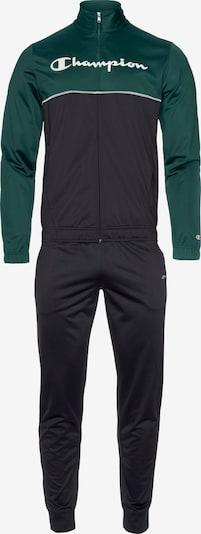Champion Authentic Athletic Apparel Trainingsanzug in dunkelgrün / schwarz / weiß, Produktansicht