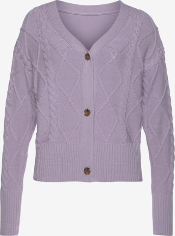 BUFFALO Knit Cardigan in Purple