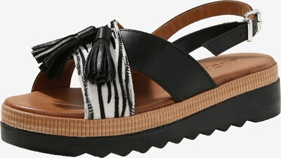 INUOVO Sandalen in schwarz / weiß, Produktansicht