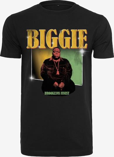 Tricou 'Notorious Big Finest' Mister Tee pe galben auriu / verde deschis / portocaliu somon / negru / alb, Vizualizare produs