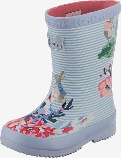 Tom Joule Schuh in hellblau / grün / pink, Produktansicht