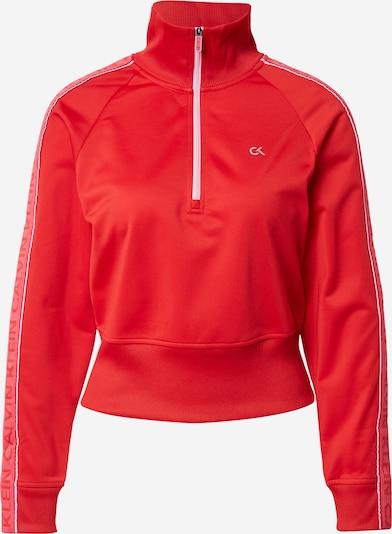 Hanorac sport Calvin Klein Performance pe roșu deschis / alb, Vizualizare produs