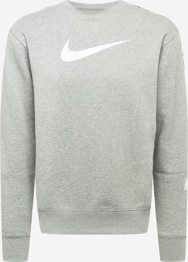 Nike Sportswear Sweatshirt 'REPEAT' en graumeliert / weiß, Vue avec produit