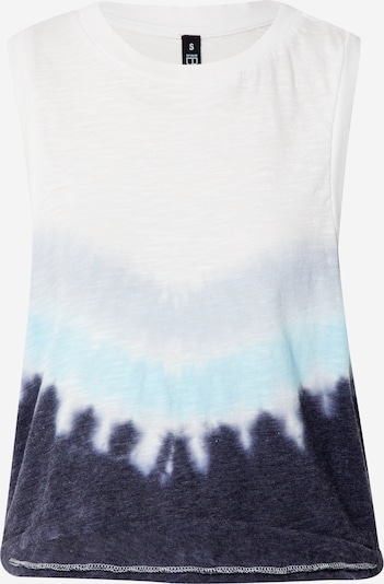 Cotton On Sports Top 'All Things Fabulous' in Turquoise / Night blue / Light blue / mottled white, Item view