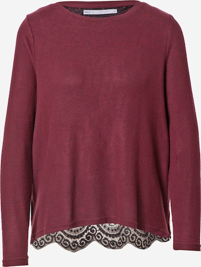 ONLY Sweater 'MAYEA' in Carmine red / Black, Item view