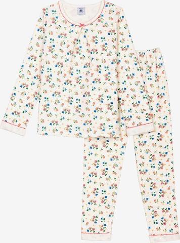 PETIT BATEAU Schlafanzug in Weiß