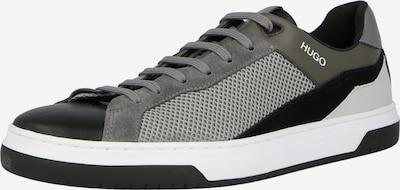 HUGO Baskets basses en gris foncé / noir / blanc, Vue avec produit