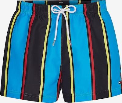 TOMMY HILFIGER Badeshorts in blau / gelb / rot / schwarz, Produktansicht
