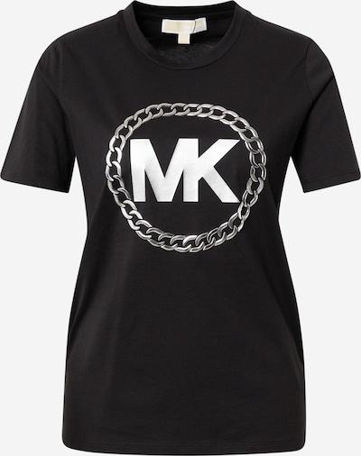 MICHAEL Michael Kors Shirt 'ELV HT CHAIN' in de kleur Lichtgrijs / Zwart / Wit, Productweergave