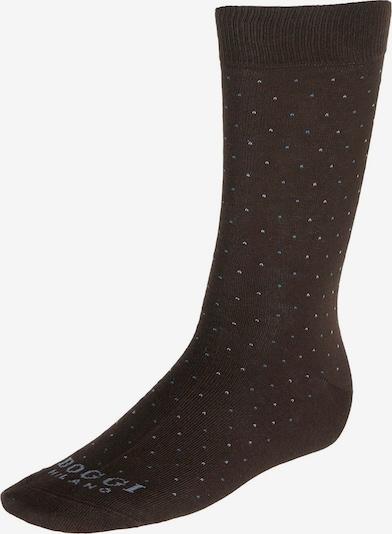 Boggi Milano Socken in hellblau / dunkelbraun, Produktansicht