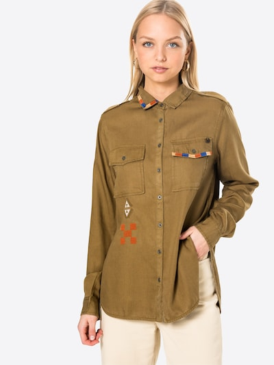Superdry Bluse in khaki, Modelansicht