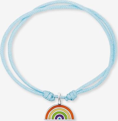 Engelsrufer Armband in rauchblau / gelb / apfel / silber / weiß, Produktansicht