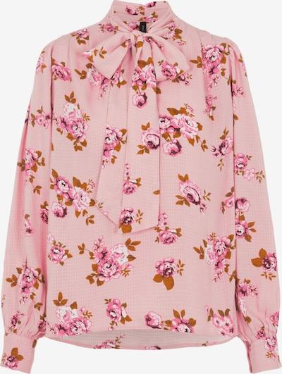 Y.A.S Bluse 'Anna' in rosé / weiß, Produktansicht